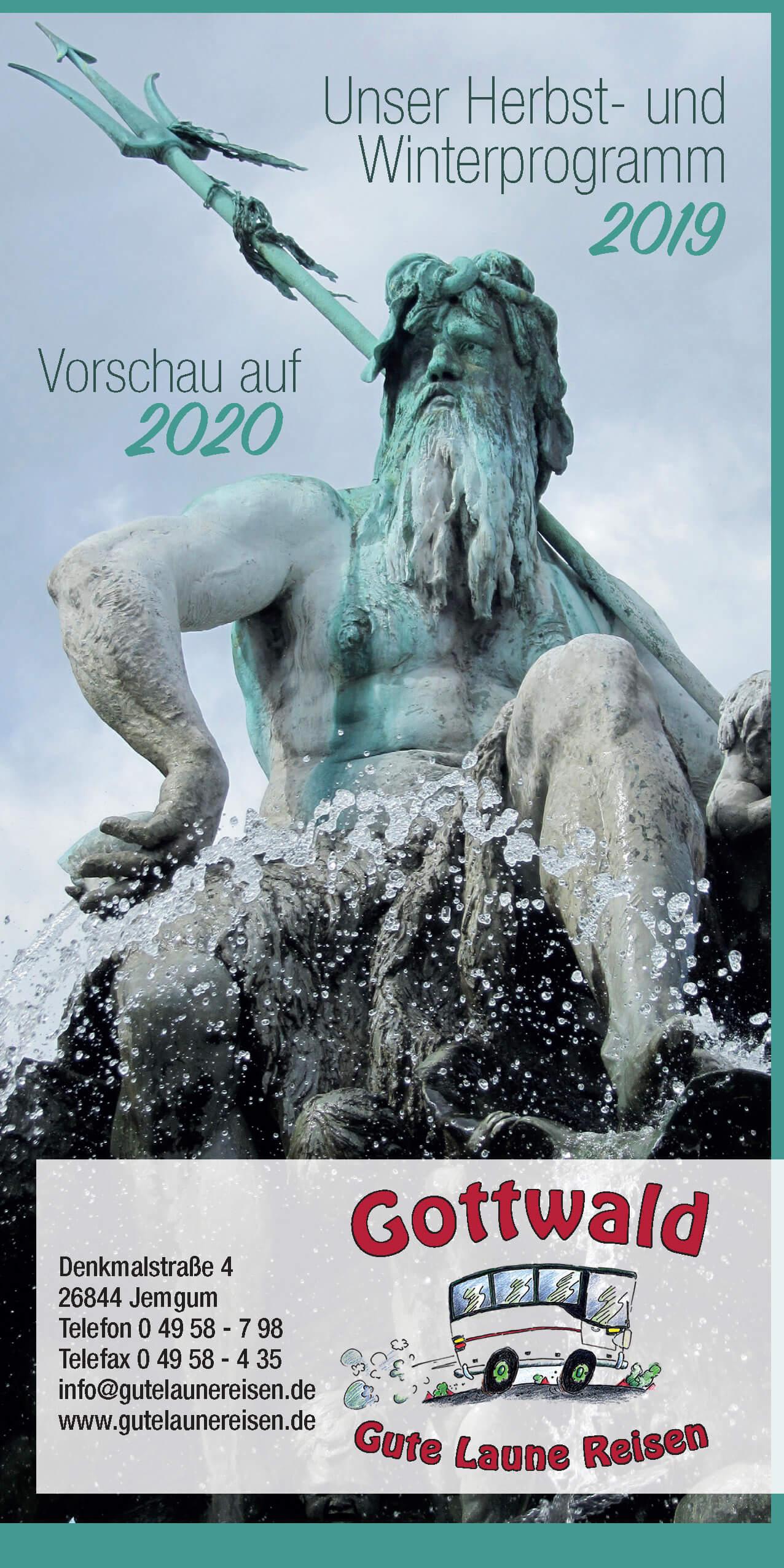 Unser Herbst- und Winterprogramm 2019 mit Vorschau auf 2020